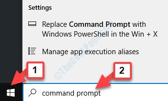 Prompt dei comandi di avvio di Ricerca desktop