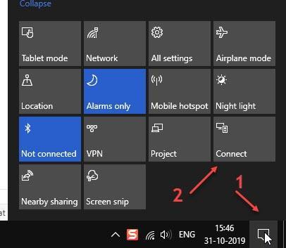 Connetti il Centro operativo Bluetooth