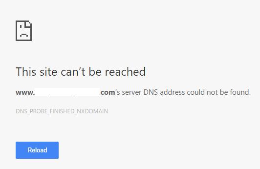 Dns Probe Finished Errore Nxdomain Indirizzo server non trovato