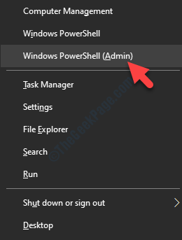 Win + X Windows Powershell (amministratore)