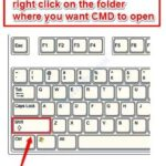 Prompt dei comandi che si apre in una posizione di cartella specifica in Windows