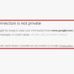 Risolto!  La tua connessione non è un errore privato in Chrome