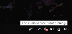 Il servizio audio non è in esecuzione