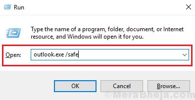Apri Outlook in modalità provvisoria