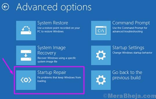 Riparazione all'avvio dell'installazione di Windows