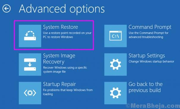 Ripristina il sistema delle impostazioni di Windows