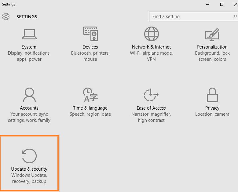 configurazione-windows-10-aggiornamento-sicurezza