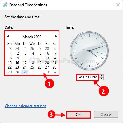 Impostazioni di data e ora