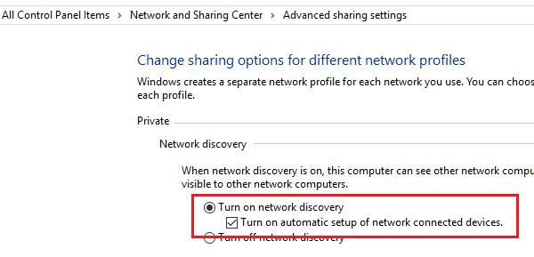 Abilita la configurazione automatica sui dispositivi connessi alla rete