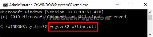 Esecuzione di file W3timedll