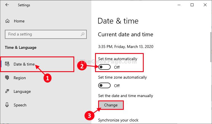 Set Time Automaticallu