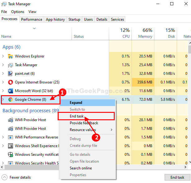 Chrome End Task