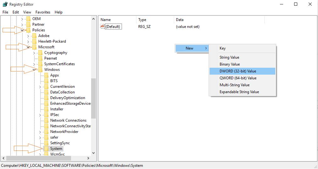 log-disable-login schermata