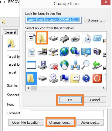cambia icona