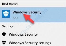 Risultato Fare clic con il pulsante sinistro del mouse su Protezione di Windows