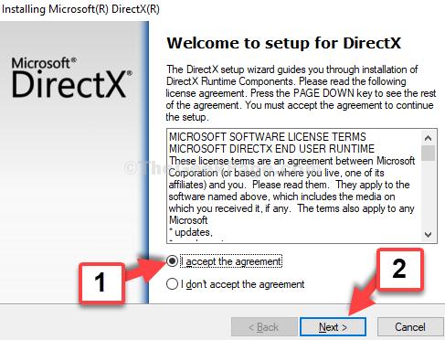 Procedura guidata di installazione Accetto il contratto Avanti