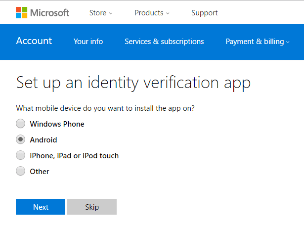 Verifica in due passaggi-windows-10-security-code-android-application