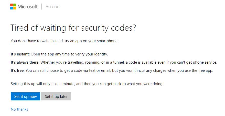 Applicazione del codice di sicurezza di Windows 10 in 2 passaggi