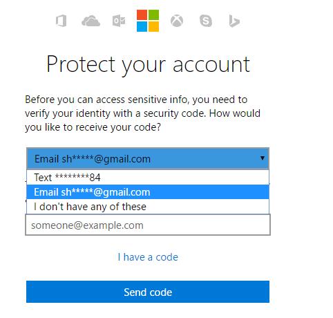Verifica in due passaggi del codice di sicurezza di Windows 10