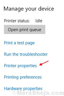 Proprietà della stampante