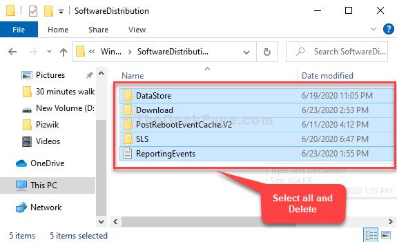 Distribuzione del software Seleziona tutti i file Elimina