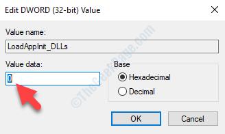Loadappinit Dlls Modifica dati valore valore parola chiave 0