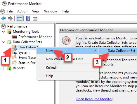 Nuovo set di raccoglitori di dati clic con il pulsante destro del mouse definiti dall'utente