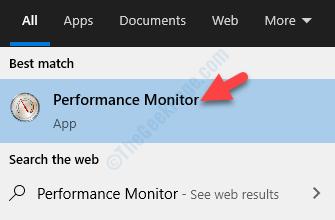 Risultato del monitor delle prestazioni del clic sinistro
