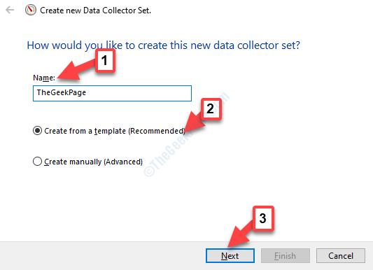 Creazione guidata nuovo set agenti di raccolta dati Seguire le istruzioni per creare un nuovo modello