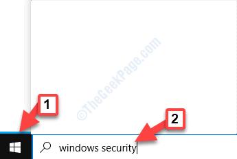 Avvia la barra di ricerca di Windows Sicurezza di Windows