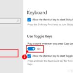 Come fare in modo che Caps Lock emetta un segnale acustico ogni volta che lo premi in Windows 10