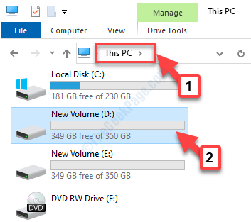 File Explorer Questa unità Pc D