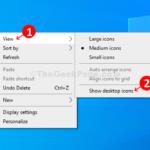 Come nascondere le icone del desktop di Windows 10