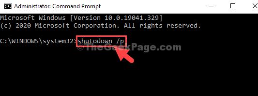 Prompt dei comandi Admin Run Mode Command Enter