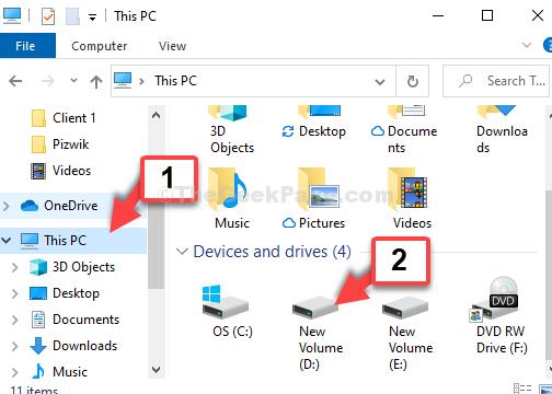 Win + E File Explorer Questa scorciatoia per drive PC D