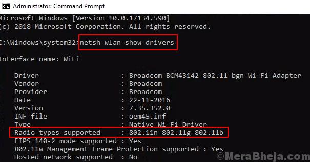 Tipo di radio supportato Supporto da 5 Ghz Controllo laptop Min
