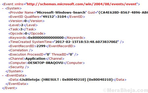 Enumerazione delle sessioni utente per generare gruppi di filtri non riuscita