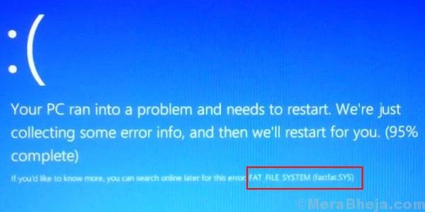 Errore di file system fat