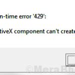 Correggi l'errore di runtime 429 in Windows 10