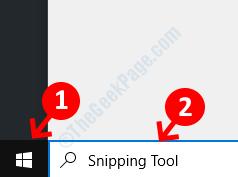 Strumento di cattura di avvio di ricerca sul desktop