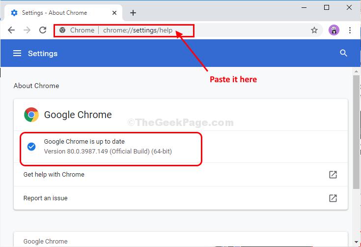 Aggiornamento delle impostazioni di Chrome