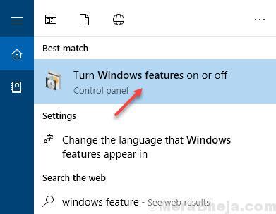 Funzione Windows abilitata o disabilitata