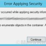 [Solved] Impossibile enumerare gli oggetti contenitore in Windows 10