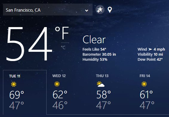 Msn Weather App