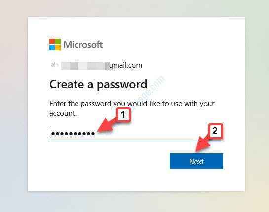 Crea una password Avanti