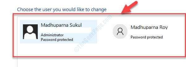 Scegli l'utente che desideri modificare