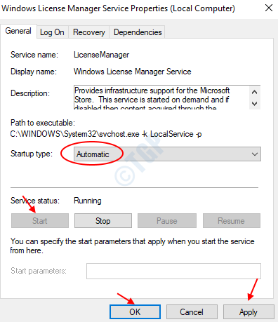 Servizio Windows License Manager