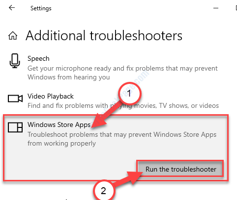 Esegui le app del Troublshooter Store