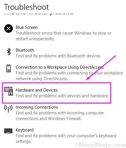 Risolvere i problemi relativi a hardware e dispositivi