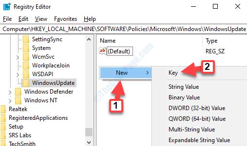 Windowsupdate Lato destro Fare clic con il pulsante destro del mouse su Nuovo valore Dword (32 bit)